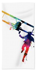 North By Northwest Watercolor Beach Towel