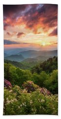 North Carolina Great Smoky Mountains Sunset Landscape Cherokee Nc Beach Sheet