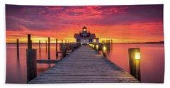 North Carolina Outer Banks Manteo Lighthouse Obx Nc Beach Towel