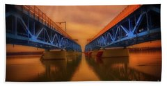 North Grand Island Bridge Beach Towel