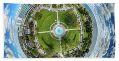 Beach Towel featuring the photograph Northpoint Water Tower Little Planet by Randy Scherkenbach