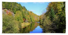 Northwoods Reflection Beach Towel