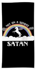 Not On A Sunday Satan Beach Sheet