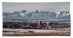 Beach Towel featuring the photograph November Nanton by Brad Allen Fine Art