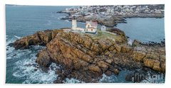 Nubble Light Winter Beach Sheet