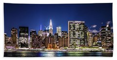 Nyc Nightshine Beach Towel
