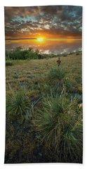 Beach Towel featuring the photograph Oahe Sunset  by Aaron J Groen