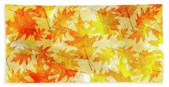 Oak Leaf Pattern Beach Towel