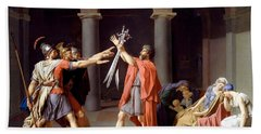 Oath Of The Horatii - Jacques-louis David -1786 Beach Towel