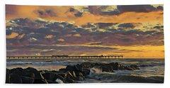 Ob Sunset No. 3 Beach Towel
