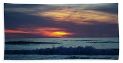 Beach Towel featuring the photograph Obx Sunrise by Lora J Wilson