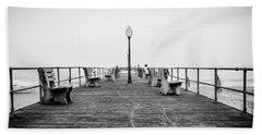 Beach Towel featuring the photograph Ocean Grove Pier 1 by Steve Stanger