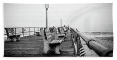 Beach Towel featuring the photograph Ocean Grove Pier 2 by Steve Stanger