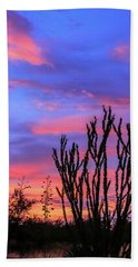 Beach Towel featuring the photograph Ocotillo Sunset 1 by Dawn Richards