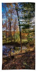 October Late Afternoon Beach Towel