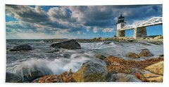 Beach Towel featuring the photograph October Morning At Marshall Point by Rick Berk