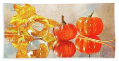 Beach Towel featuring the photograph October Reflections by Randi Grace Nilsberg