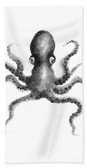 Octopus Watercolor Poster Oceanic Life Watercolor Painting Beach Towel
