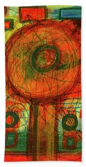 Beach Towel featuring the mixed media Ode To Autumn by Mimulux patricia No