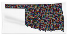 Oklahoma Map - 1 Beach Towel