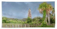 Old Baldy Lighthouse Bald Head Island Beach Towel