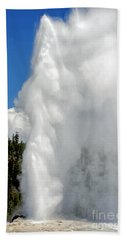 Old Faithful With Steam And Vapor Beach Towel