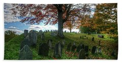 Old Hill Burying Ground In Autumn Beach Towel