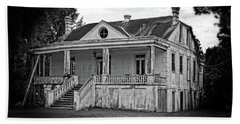 Old House Black And White Beach Towel
