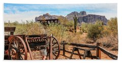Beach Towel featuring the photograph Old Mining Days 1 by Dawn Richards