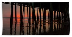 Old Orchard Beach Fishing Pier Welcome To The Day Beach Towel