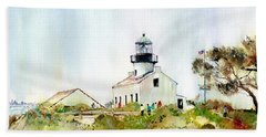 Old Point Loma Light Beach Towel