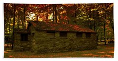 Old Stone Structure Beach Towel