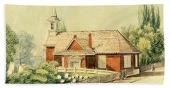 Old Swedes' Church, Southwark, Philadelphia Beach Towel