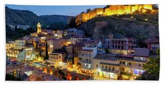Beach Towel featuring the photograph Old Tbilisi by Fabrizio Troiani