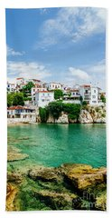 Old Town View Of Skiathos Island, Sporades, Greece.  Beach Sheet