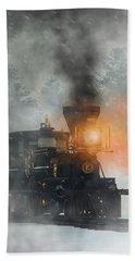 Beach Towel featuring the digital art Old West Steam Train  by Daniel Eskridge