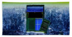 Old Window 3 Beach Towel