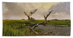 Old World Kestrel At Dawn Beach Towel