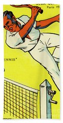 Olympics 1924 Paris France Tennis Championship Beach Towel
