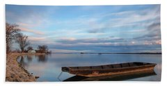 On The Shore Of The Lake Beach Towel