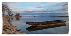Beach Towel featuring the photograph On The Shore Of The Lake by Davor Zerjav