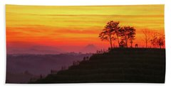Beach Towel featuring the photograph On The Viewpoint by Davor Zerjav