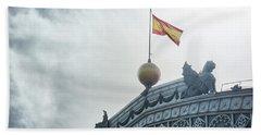 On Top Of The Puerta De Atocha Railway Station Beach Towel