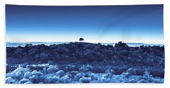 One Tree Hill - Blue Beach Towel