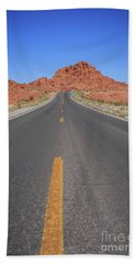 Open Road Valley Of Fire Beach Towel