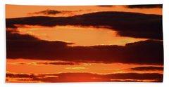 Orange And Black Beach Towel