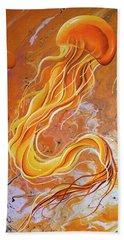 Orange Jelly Beach Towel
