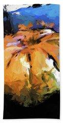 Orange Pumpkin Beach Towel