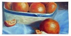 Oranges And Blue Beach Sheet