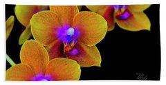 Orchid Study Ten Beach Towel